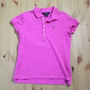 Ralph Lauren Girls Pink Polo Shirt